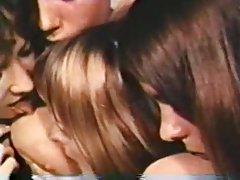 Amerikan vintage lezbiyen seks partisi
