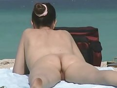 Çıplaklar plajı, kıllı MILFs